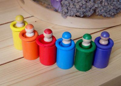 układanka Montessori ludziki układanka lewopółkulowa