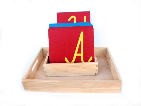 Szorstki alfabet wielkie litery