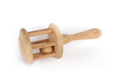 Grzechotka drewniana
