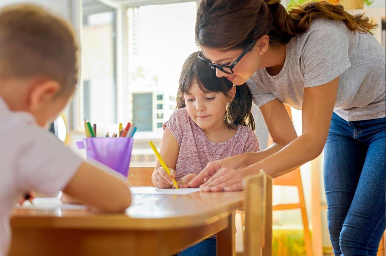 Edukacja domowa- pani nauczycielka