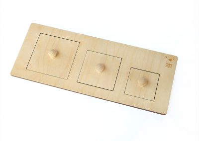 Puzzle Montessori kwadraty