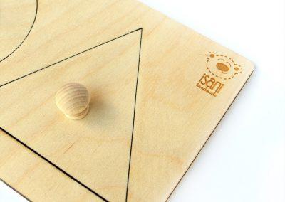 Puzzle Montessori kwadrat+kółko+trójkąt