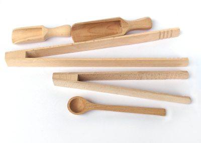 Sorter drewniany zestaw szczypce