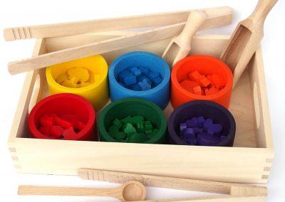 Sorter kolorów drewniany