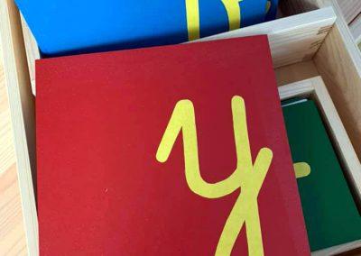 Pomoce Montessori - Szorstki alfabet