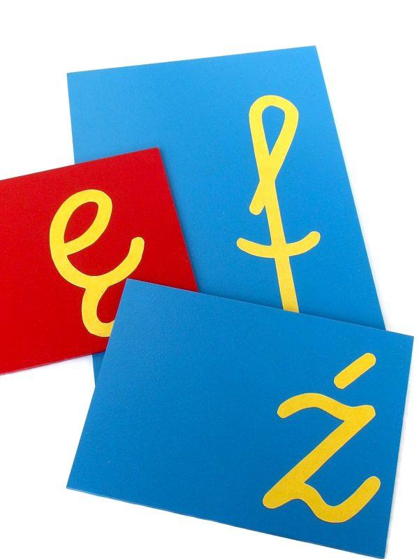 Pomoce Montessori Szorstki alfabet