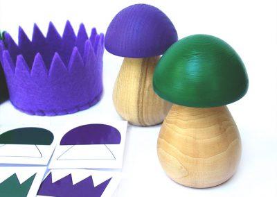 Układanka lewopółkulowa zgraj grzyba