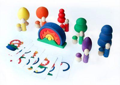 Zestaw kreatywny- układanka lewopółkulowa